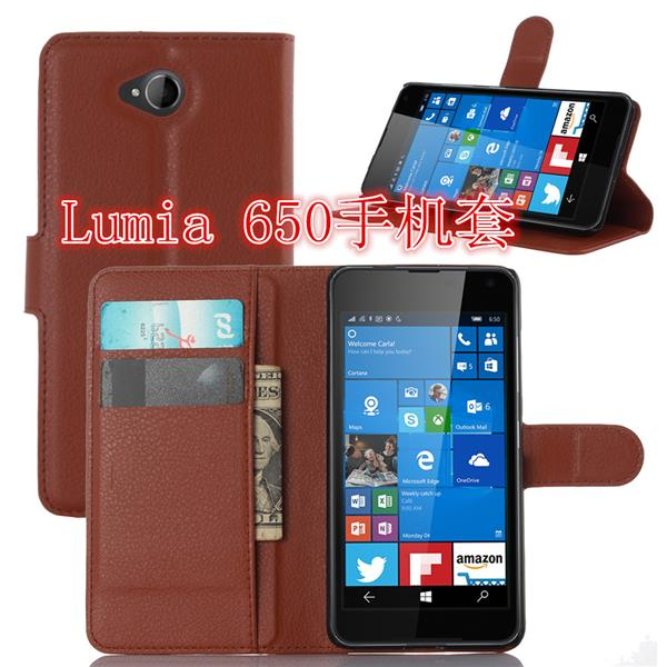 Microsoft Nokia Lumia 650 Flip PU Leather Case Cover Casing +Free Gift
