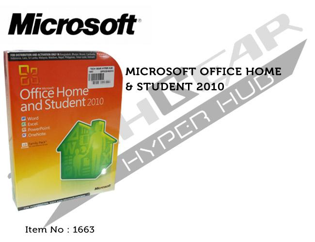 MICROSOFT OFFICE HOME & STUDENT 2010 3U