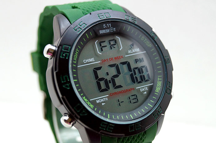 MILITARY 5.11 SURESHOT PVD-RUBBER STRAP-GR