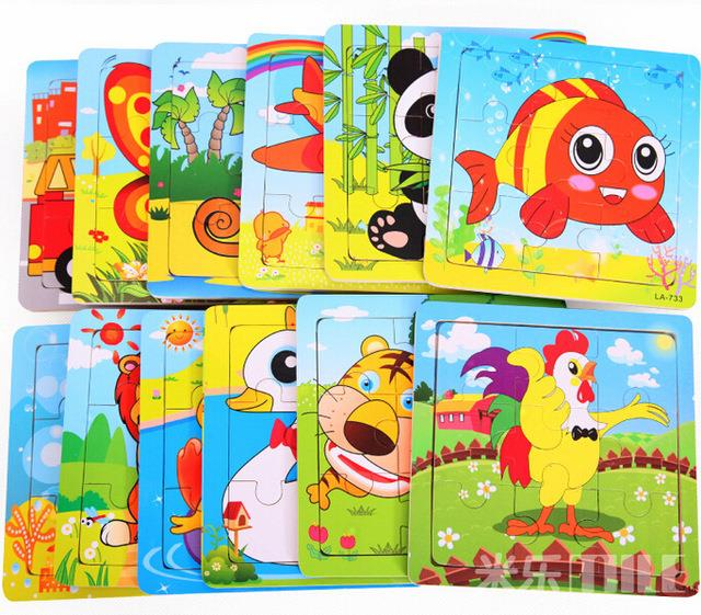 Mini 9 Pcs Kids Animal Puzzle Toy- Random