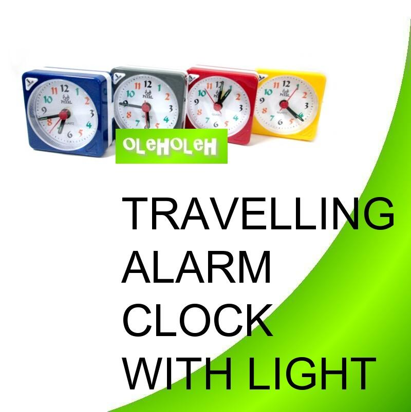 Mini Alarm Clock Travel Beep Alarm Clock With Light Snooze Gift Office