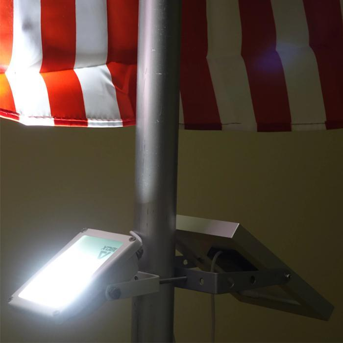 Mini Alpha180X Solar Flag Pole Flood Light Spotlight
