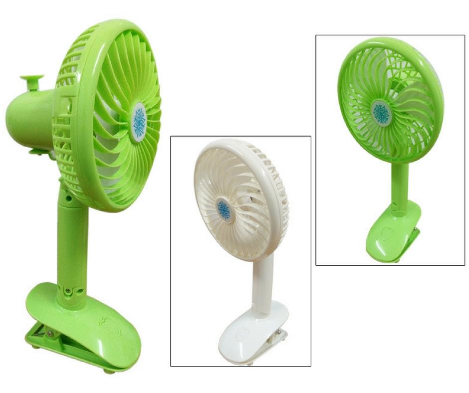 Mini Angle Adjustment Rechargeable USB Clip Fan