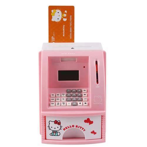 Mini Automatic ATM Coin Bank Hello Kitty