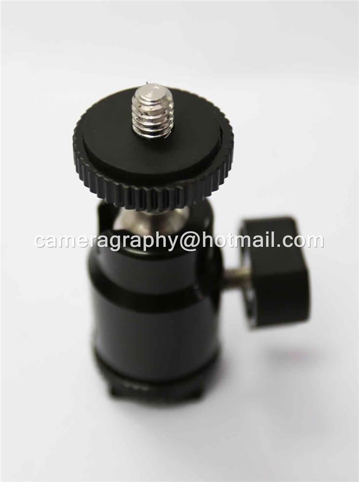Mini Ballhead with Hotshoe Adapter
