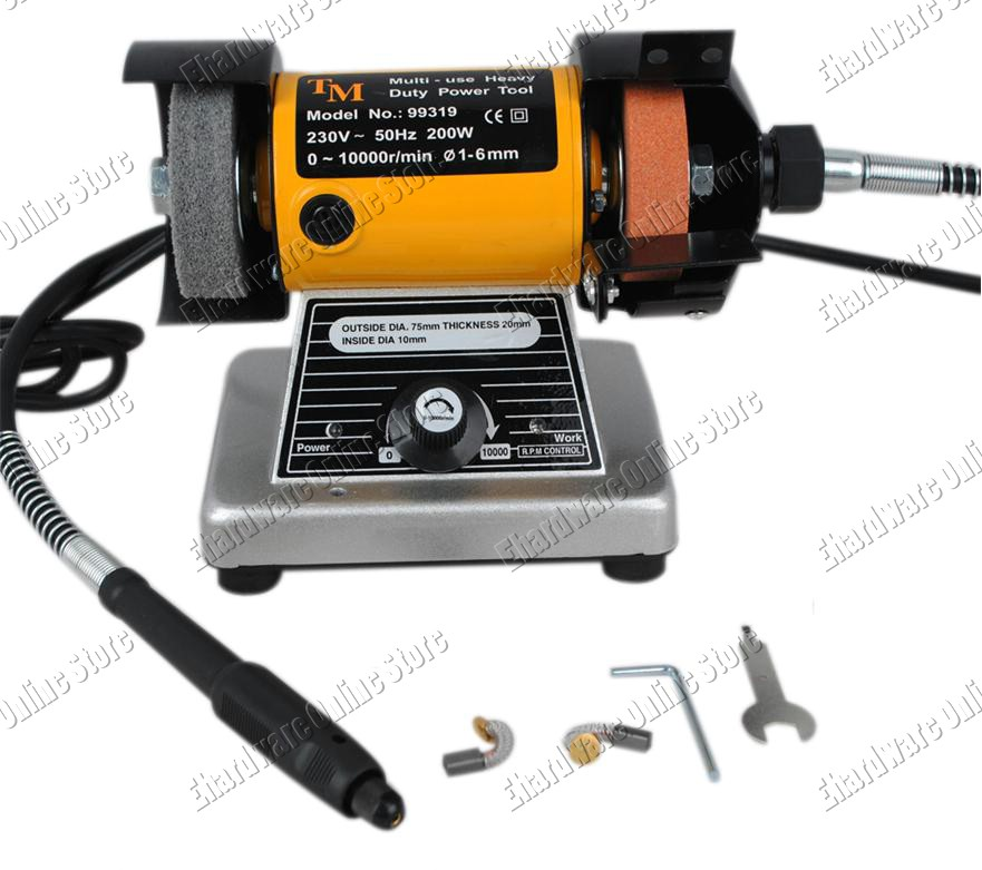 Mini Bench Grinder Polisher With Flex Shaft Micro End 11 22 2015 6 12 00 Pm