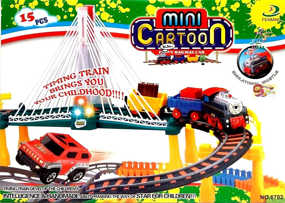 Mini Cartoon Funny Railway Car (For Ages 3 Years +)