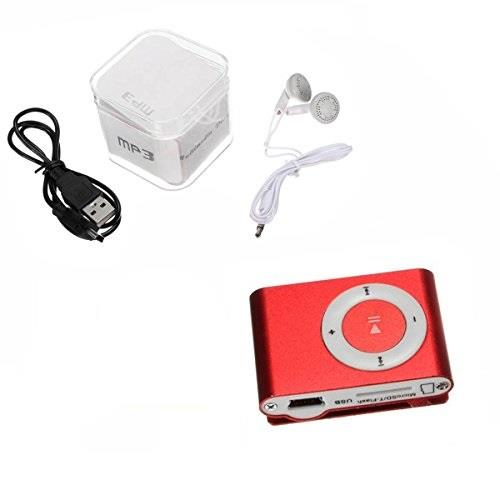 Mini Clip MP3 Player-With Charger Cable & Earphone