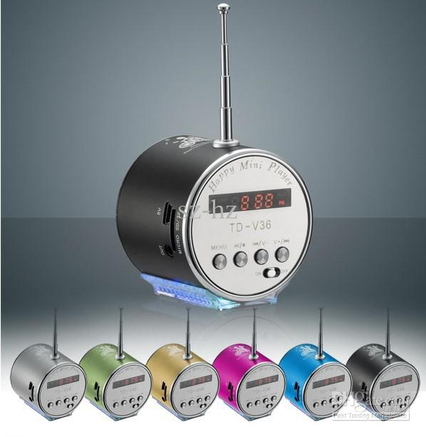 MINI DIGITAL PORTABLE SPEAKER WITH TF / USB / FM (TD-V36A) MANY COLOR