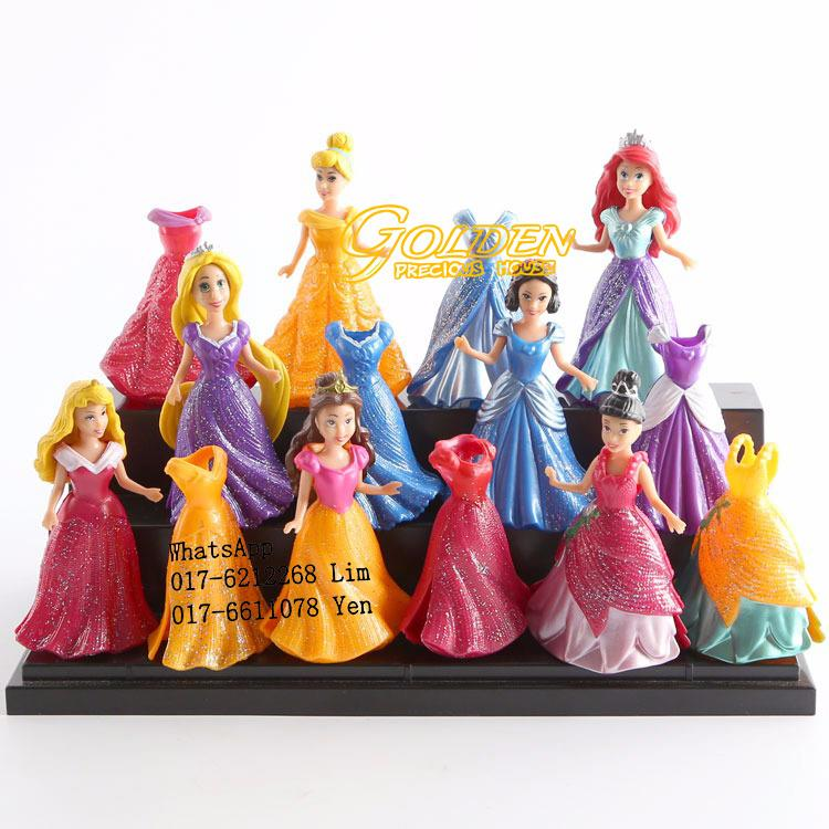 Mini Disney Princess Figurine Play Set @ Cake Decoration (7pcs/set)