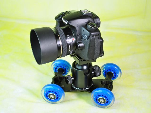 Mini Dolly Skater for DSLR Camera Video Shooting Roller Track