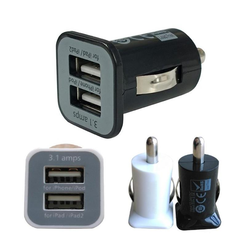 Mini Dual USB Universal Fast Charging Superior Speed Car Charger