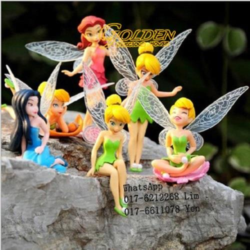 Mini Figurine Tinker Bell Fairy Play Set @ Cake Decoration (6pcs/set)