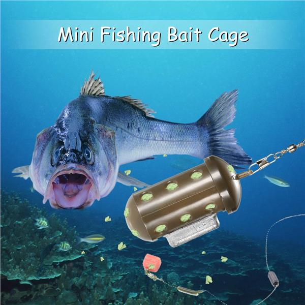 Mini Fishing Bait Lure Cage Feeder Block End Fishing Accessories