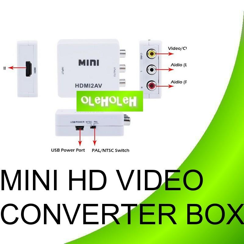 Mini HD Video Converter Box HDMI To RCA HDMI To AV Adapter