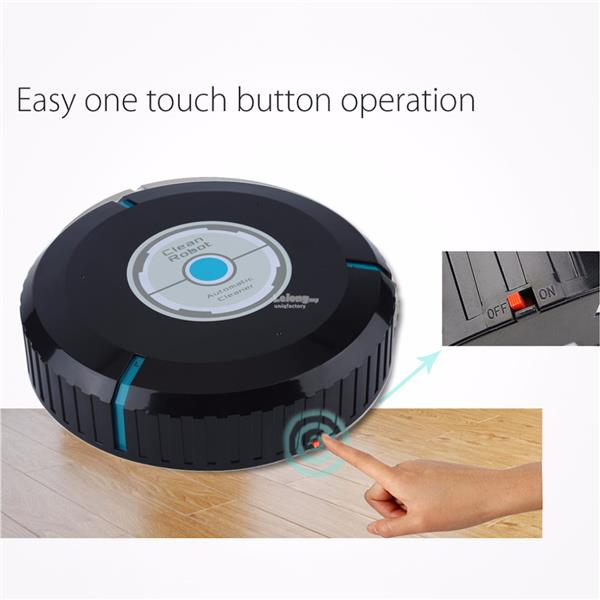 Mini Home Robotic Smart Auto Cleaner Robot Microfiber Mop Dust Clean