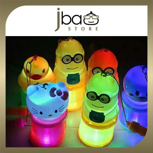 Mini LED flashing lights Lantern Mid-Autumn Minions Doraemon Kitty