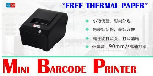 Mini Receipt Barcode Thermal USB Printer  FREE Thermal Paper