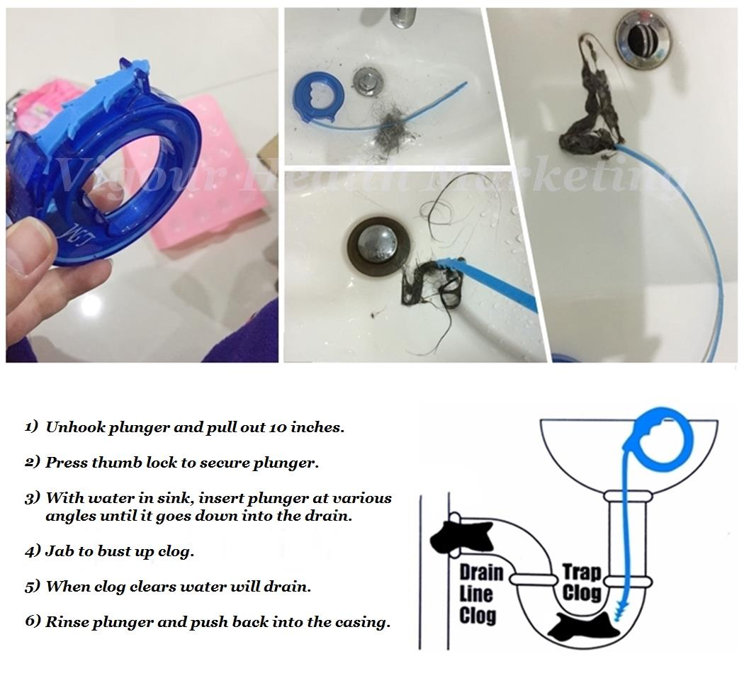 My Kitchen Sink Is Clogged: Mini-Snake Drain Opener For Kitchen (end 6/26/2017 6:15 PM