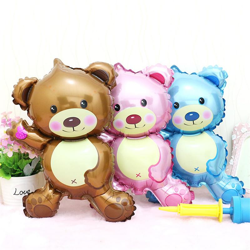 MINI TEDDY BEAR FOIL BALLOON ALUMINUM