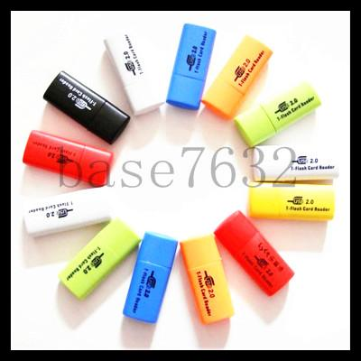 Mini USB  Micro SD Thumb Drive Memory Card Reader NEW