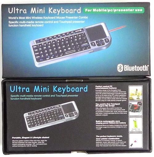Mini wireless Bluetooth Keyboard Touchpad Leser Pointer Android