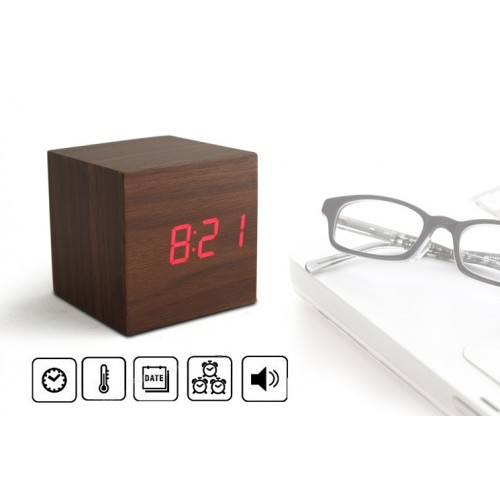 mini wooden cube led clock end 9 26 2018 11 46 am myt. Black Bedroom Furniture Sets. Home Design Ideas