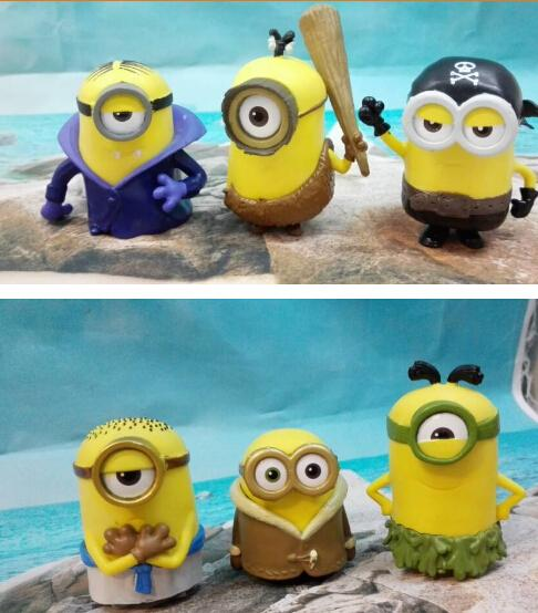 Minion Display Figurine/Figure Toy 6 pieces set