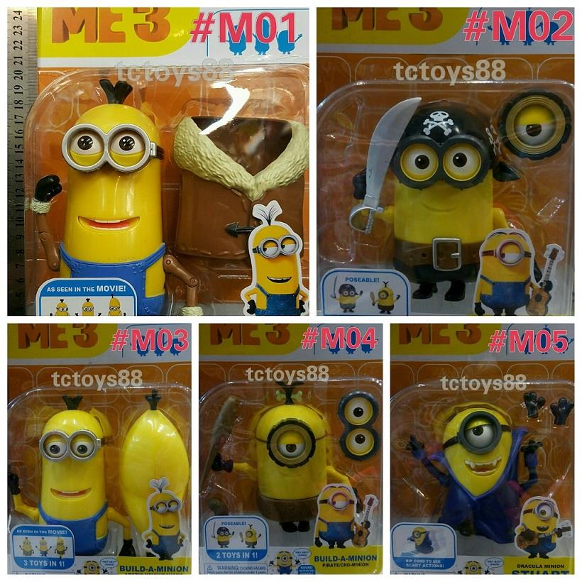 Minions Figure Despicable toys Deluxe Size. cw sound & lights. New.!!!