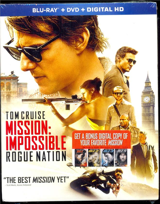 Mission: Impossible Rogue Nation - New Blu-Ray