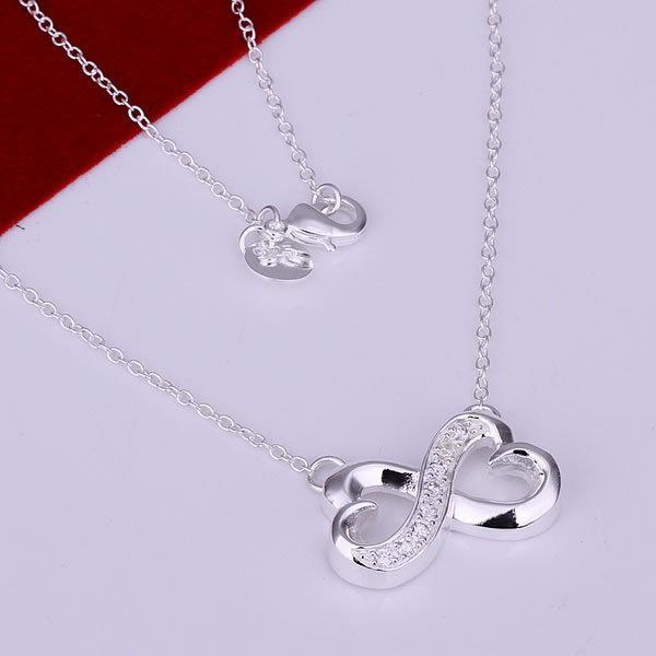 MissYap 925 Silver Inlaid 8-Shaped Necklace N147