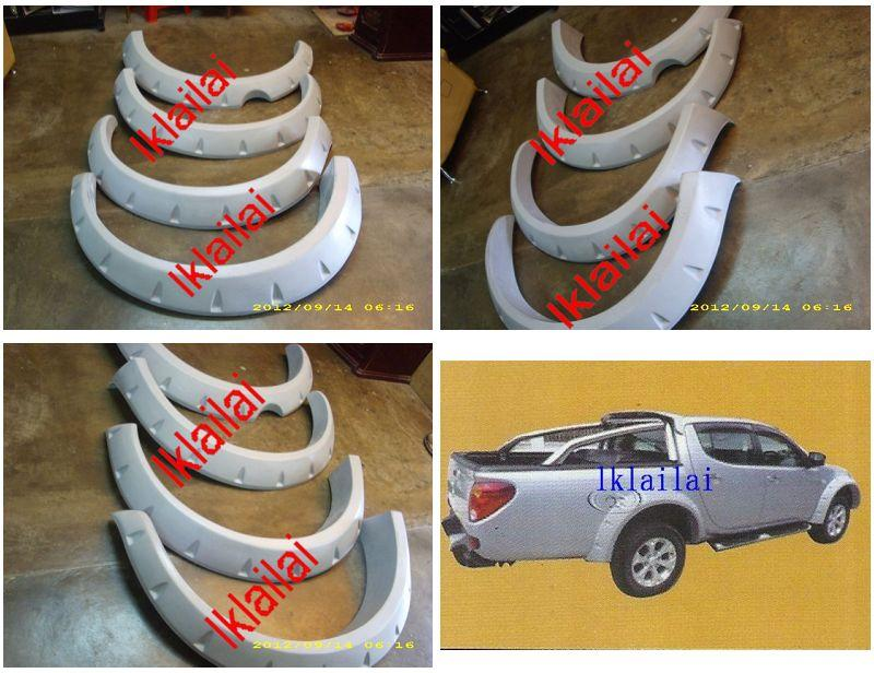 Mitsubishi Triton '11 6-inch Archers/ Fender [4pcs/set] Fiber Body Kit