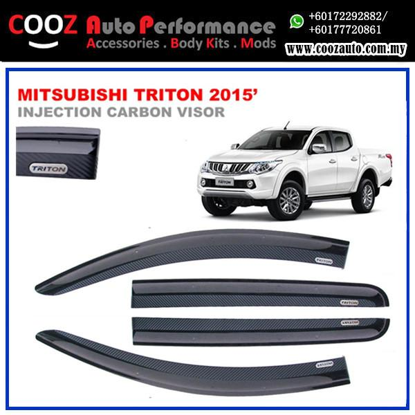 MITSUBISHI TRITON 2015 Sun Window Vent Door Visor (Carbon)