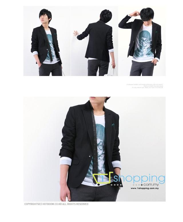 MJC0013 Korean Men Slim Fit Coat Suit Blazer Jacket