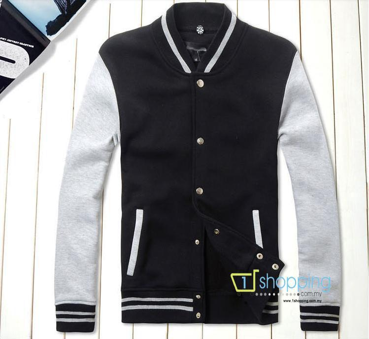 MJC0091 Korean Fashion Slim Fit men's baseball varsity hooded jacket