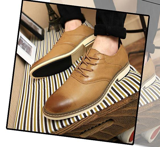 MKS71 Casual shoes, Leather shoes, fashion shoes Korean men shoes