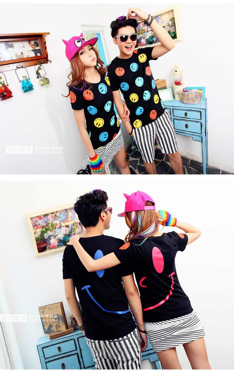 MLF Smiley Face Happy Lovely Couple Tee