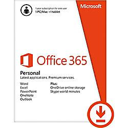 MM. MICROSOFT SOFTWARE OFFICE 365 PERSONAL 2016 1 USER 1 YEAR RETAIL
