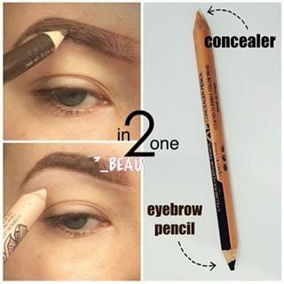 how to use concealer pencil on eyebrows