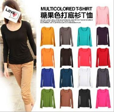 Modal Multicolored Long-Sleeve T-shirt