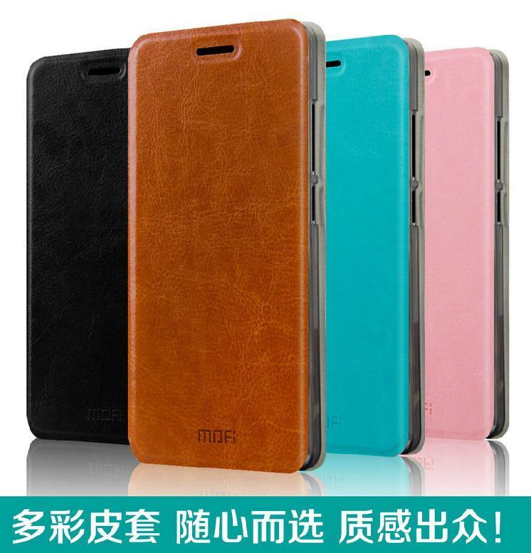 Mofi Lenovo A606 Flip PU Leather Case Cover Casing + Free Gifts