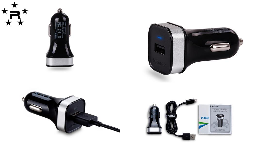 Momax XC Series USB Car Charger - Single USB Outputs - rmtlee