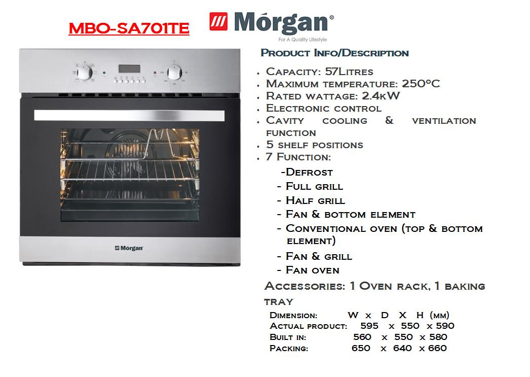 Morgan Built-In Oven (MBO-SA701TE) Indent