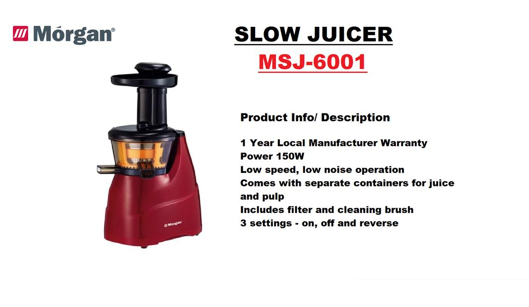 Slow Juicer Taiwan : Morgan Slow Juicer (MSJ-6001) (end 2/1/2017 2:15:00 PM MYT)