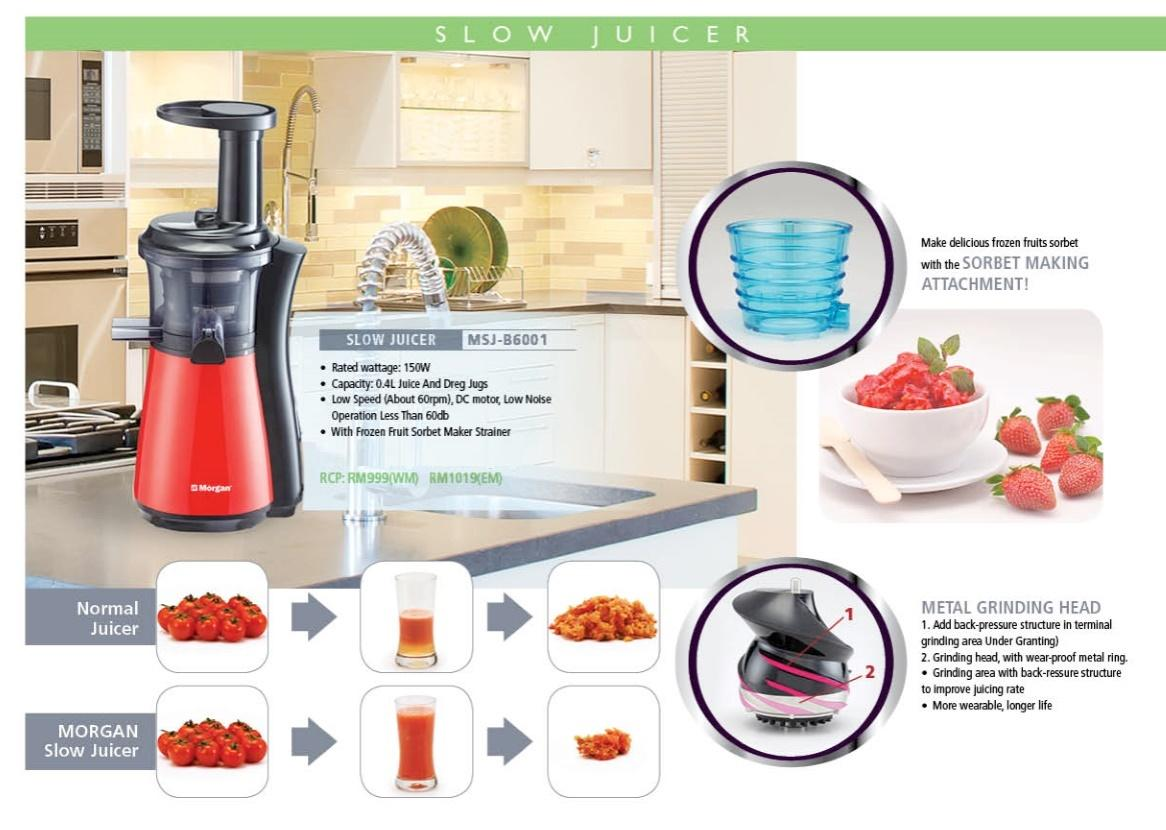 Morgan Slow Juicer Review : Morgan Slow Juicer (MSJ-B6001 (end 4/28/2017 2:15 PM - MYT )