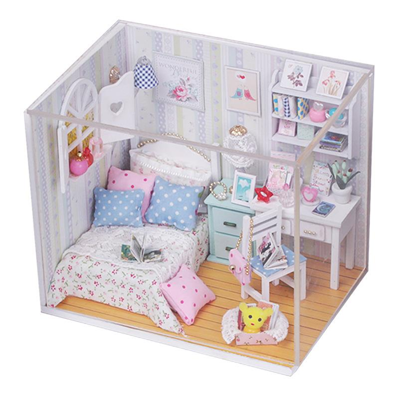 Morning Brilliant with Light/Anti-dust cover DIY Miniature Doll House