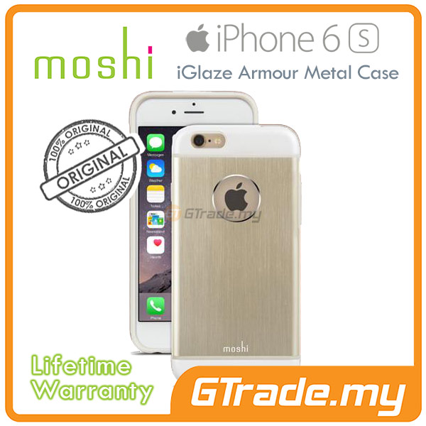 MOSHI IGLAZE Armour Metal Cover Case | Apple iPhone 6S 6 - Gold