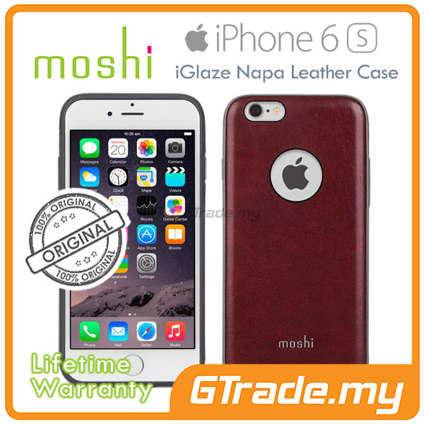 MOSHI IGLAZE Napa Leather Cover Case | Apple iPhone 6S 6 - Red