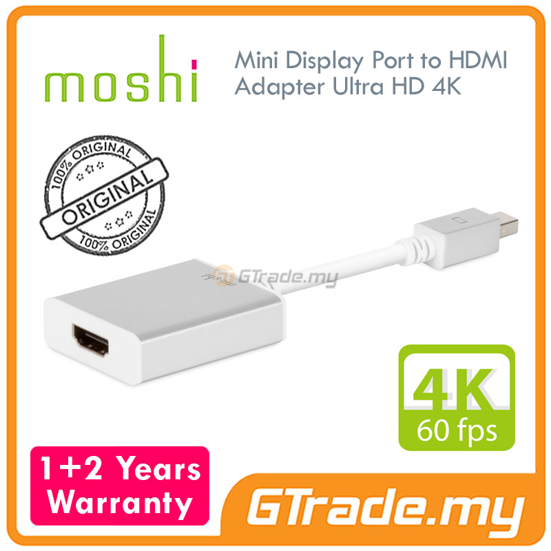MOSHI Mini Display Port to HDMI Adapter Ultra HD 4K Ready 60 FPS