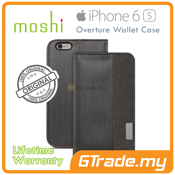 MOSHI OVERTURE Wallet Cover Case | Apple iPhone 6S 6 - Black